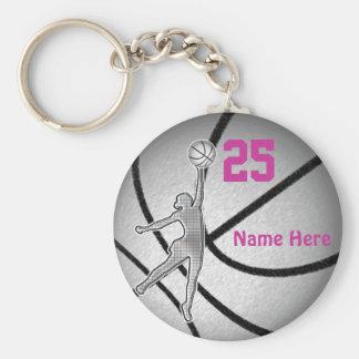 Cadeaux de basket-ball pour l'équipe de filles porte-clé rond