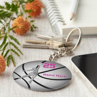 Cadeaux de basket-ball pour l'équipe de filles porte-clé