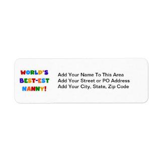 Cadeaux de bonne d'enfants du Meilleur-est du Étiquette D'adresse Retour