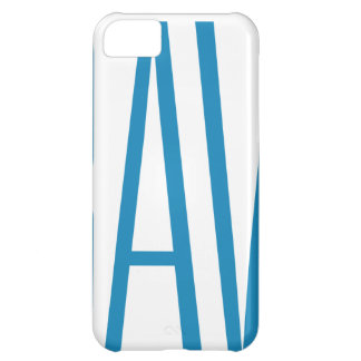 Cadeaux de #Bravery - bleu-clair sur le blanc Coque iPhone 5C