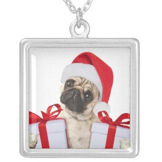 Cadeaux de carlin - chien Claus - carlins drôles - Collier