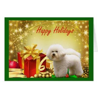 Cadeaux de carte de Noël de Bichon Frise