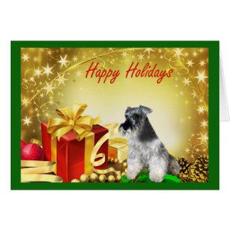 Cadeaux de carte de Noël de Schnauzer miniature