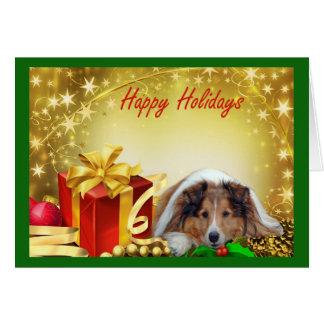 Cadeaux de carte de Noël de Sheltie