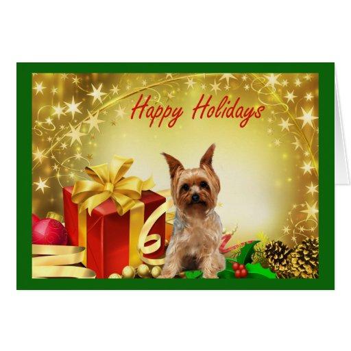 Cadeaux de carte de no l de yorkshire terrier zazzle - Cadeaux de noel a vendre ...