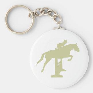 Cadeaux de cheval et de cavalier de pullover de ch porte-clé rond