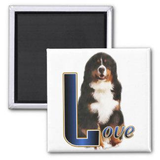 Cadeaux de chien de montagne de Bernese Magnet Carré