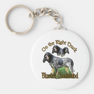Cadeaux de Coonhound de Bluetick Porte-clé Rond