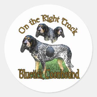 Cadeaux de Coonhound de Bluetick Sticker Rond