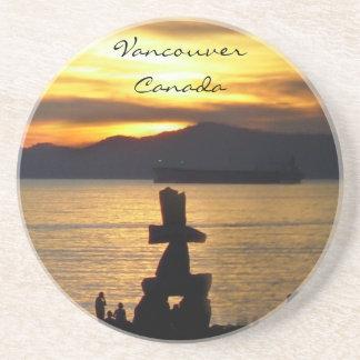 Cadeaux de coucher du soleil de Vancouver de cabot Dessous De Verre
