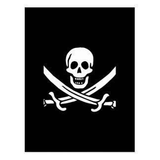 Cadeaux de drapeau de pirate carte postale