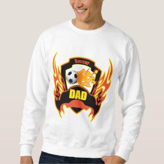 Cadeaux de fête des pères de papa du football sweatshirt