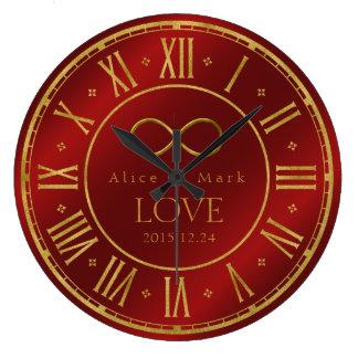 Cadeaux de geek de l'amour | d'infini grande horloge ronde