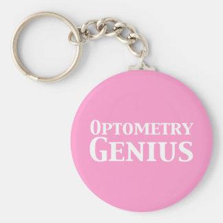 Cadeaux de génie d'optométrie porte-clé rond