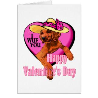 Cadeaux de jour de Valentines de poseur irlandais Cartes