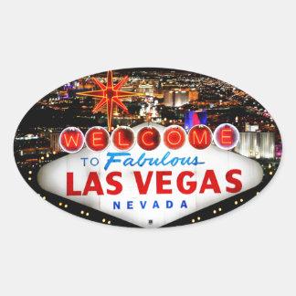 Cadeaux de Las Vegas Sticker Ovale