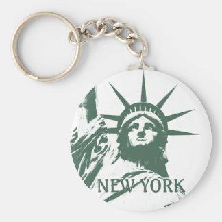 Cadeaux de liberté de souvenir de New York de Porte-clé Rond