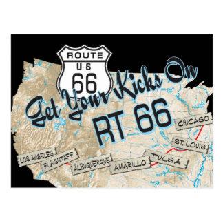 cadeaux de l'itinéraire 66 carte postale