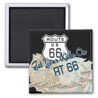 cadeaux de l'itinéraire 66 magnet carré
