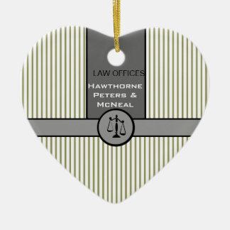 Cadeaux de loi douanière d'échelle de justice de ornement cœur en céramique