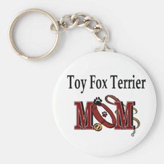 Cadeaux de MAMAN de Fox Terrier de jouet Porte-clé Rond