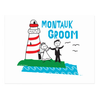 Cadeaux de marié de Montauk Carte Postale