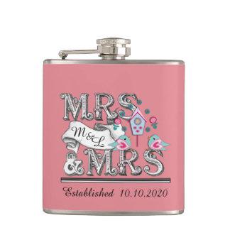 Cadeaux de Mme et de mariage de Mme Personalized Flasques