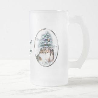 Cadeaux de Noël de chien de berger de Shetland Mug À Café