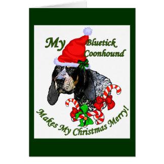 Cadeaux de Noël de Coonhound de Bluetick Carte De Vœux