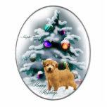 Cadeaux de Noël de Norfolk Terrier Photo En Découpe