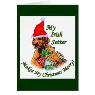 Cadeaux de Noël de poseur irlandais Cartes