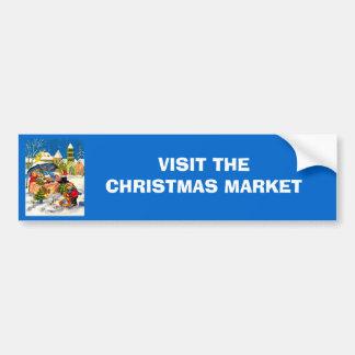 Cadeaux de Noël sur un marché de Noël Autocollant De Voiture
