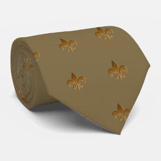 Cadeaux de papa - Fleur de lis, cravate kaki de