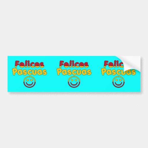 Cadeaux de Pâques pour les orateurs espagnols Feli Autocollants Pour Voiture