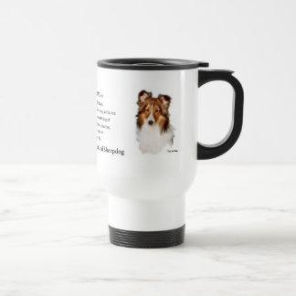 Cadeaux de Sheltie de chien de berger de Shetland Mug De Voyage