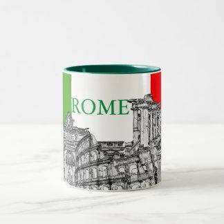 Cadeaux de souvenir de voyage de Roma, Rome… Mug Bicolore