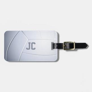 Cadeaux de sport de volleyball des initiales | étiquette à bagage