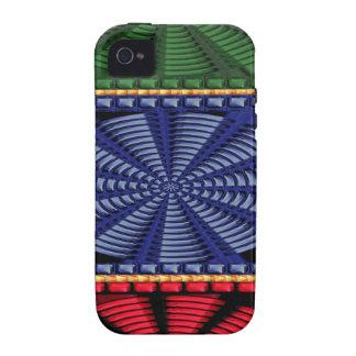 CADEAUX décoratifs colorés d art de bouton iPhone 4 Case