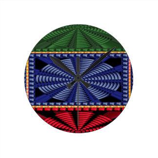 CADEAUX décoratifs colorés d'art de bouton Pendules