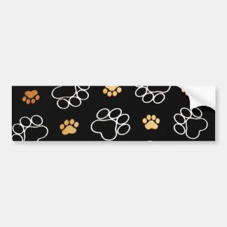 Cadeaux d'empreintes de pattes de chiot de chien p autocollant pour voiture