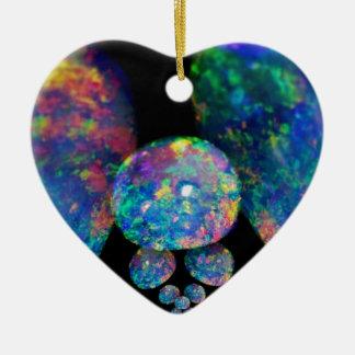 Cadeaux d'Extradinair d'opales noires par Sharles Ornement Cœur En Céramique