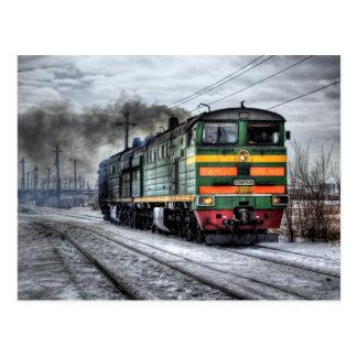 Cadeaux diesel de locomotive de train carte postale