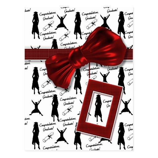 Cadeaux d'obtention du diplôme pour des femmes sal carte postale