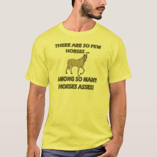 Cadeaux drôles de T-shirts d'ânes de chevaux