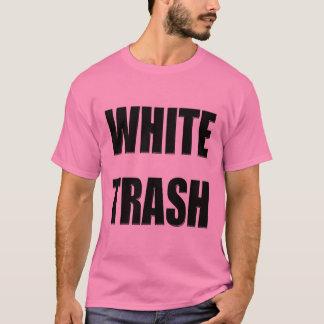 Cadeaux drôles de T-shirts de déchets blancs