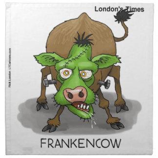 Cadeaux drôles de vache à monstre de Halloween Serviettes En Tissus