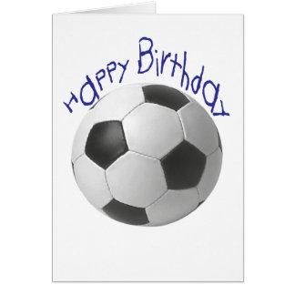 Cadeaux du football de joyeux anniversaire carte de vœux