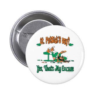 Cadeaux du jour de St Patrick d'amusement Badges