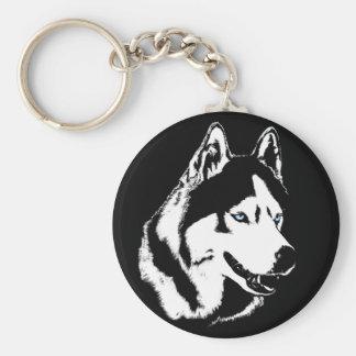 Cadeaux enroués de chien de Malamute de chien de Porte-clé Rond