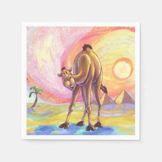 Cadeaux et accessoires de chameau serviette jetable